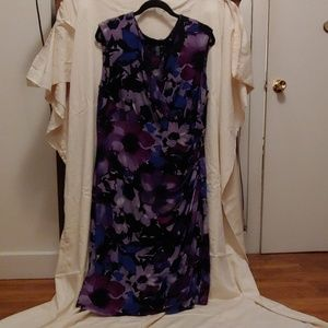 Purple flower ralph lauren dress